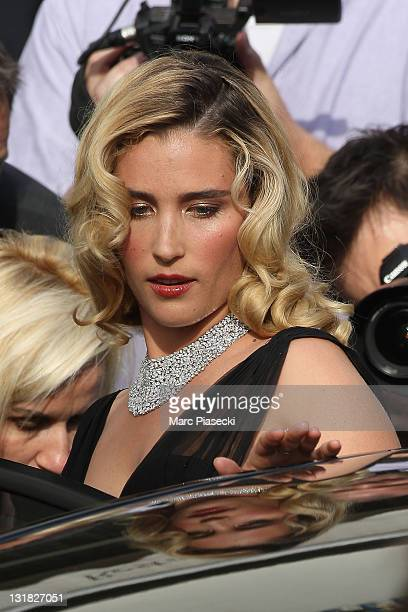 Actress Vahina Giocante sighted leaving the 'Martinez' hotel on May 11 2011 in Cannes France
