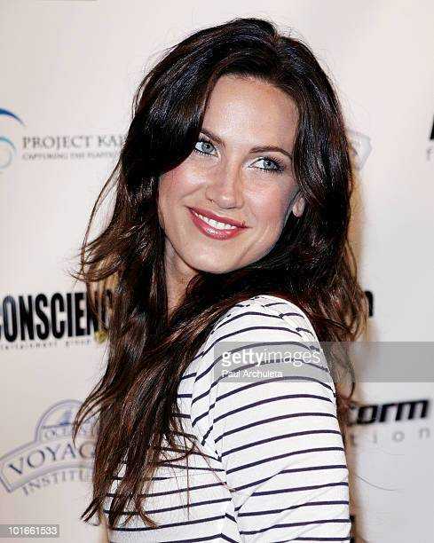 Actress Vail Bloom arrives at the 1st annual My Ocean Planet fundraiser benefitting project Kaisei at The Malibu Lumber Yard on June 5 2010 in Malibu...