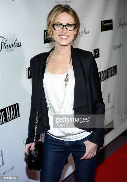 Actress Vail Bloom attends Across The Hall Los Angeles Premiere at Laemmle's Music Hall 3 on December 1 2009 in Beverly Hills California