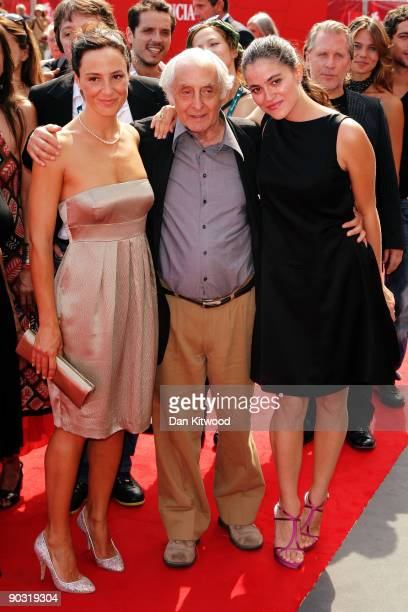 Actress Valentina Carnelutti with director Francesco Maselli and actress Veronica Gentili attends the Le Ombre Rosse premiere at the Sala Grande...