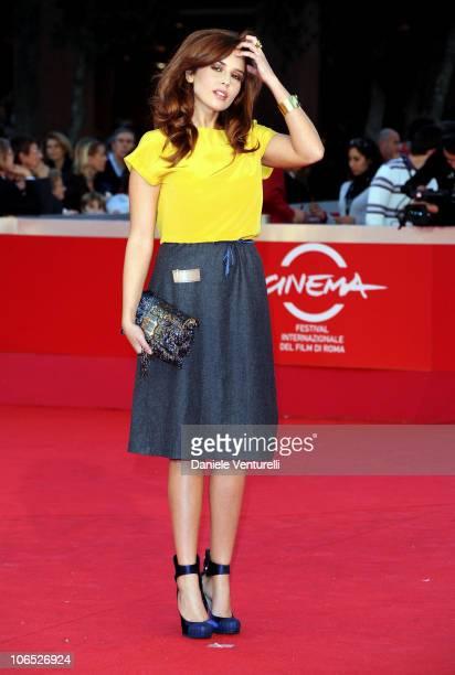Actress Valentina D'agostino attends the Le Cose Che Restano Premiere during the 5th International Rome Film Festival at the Auditorium Parco Della...