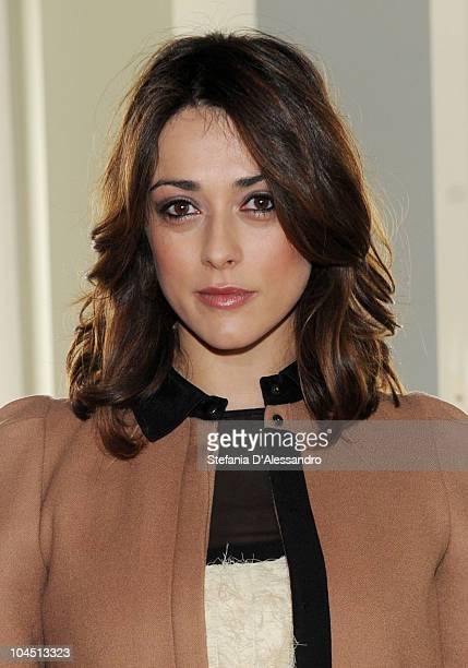 Actress Valentina Lodovini attends the 'Benvenuti al Sud' Milan photocall held at Terrazza Martini on September 28 2010 in Milan Italy