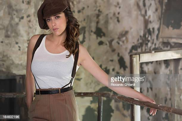 Actress Valentina Lodovini is photographed for Self Assignment on July 21 2012 in Rome Italy