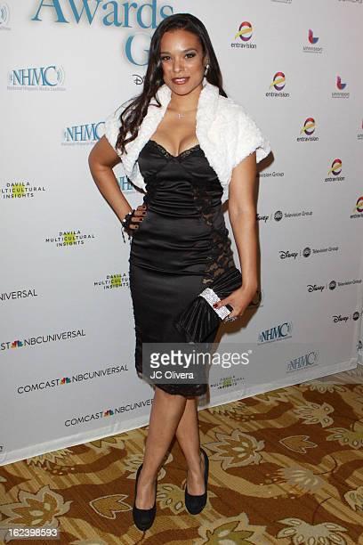 Actress Valenzia Algarin attends National Hispanic Media Coalition's 16th Annual Impact Awards Gala at the Beverly Wilshire Four Seasons Hotel on...