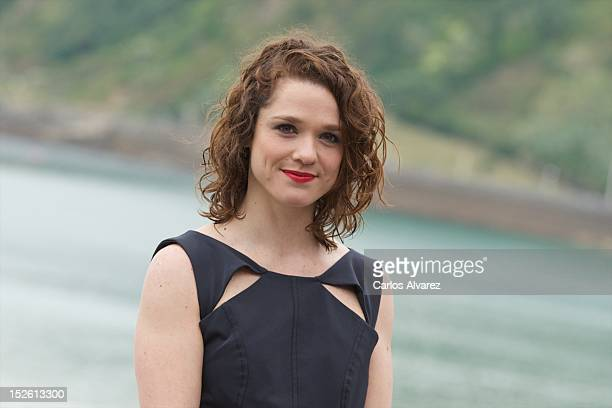 Actress Valeria Alonso attends El Muerto Y Ser Feliz photocall at the Kursaal Palace during the 60th San Sebastian International Film Festival on...