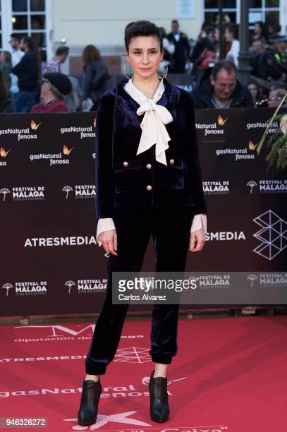 Actress Valeria Bertuccelli attends the Malaga Sur award ceremony during the 21th Malaga Film Festival at the Cervantes Theater on April 14 2018 in...