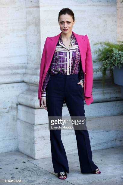Actress Valeria Bilello attends Un'Avventura photocall at The Space Cinema Moderno on February 13 2019 in Rome Italy