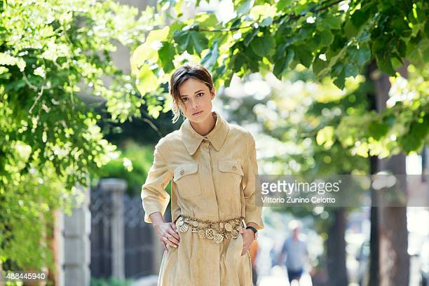 Actress Valeria Bilello is photographed for Self Assignment on September 11, 2015 in Venice, Italy.