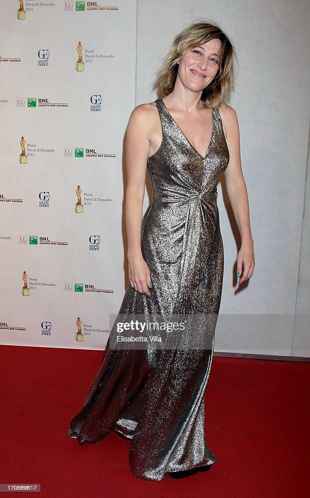 Actress Valeria Bruni Tedeschi attends 2013 Premi David di Donatello Ceremony Awards at Dear RAI Studios on June 14, 2013 in Rome, Italy.