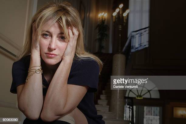 Actress Valeria Bruni Tedeschi attends a portrait session for the movie 'Les Regrets' during the 4th Rome International Film Festival held at the...