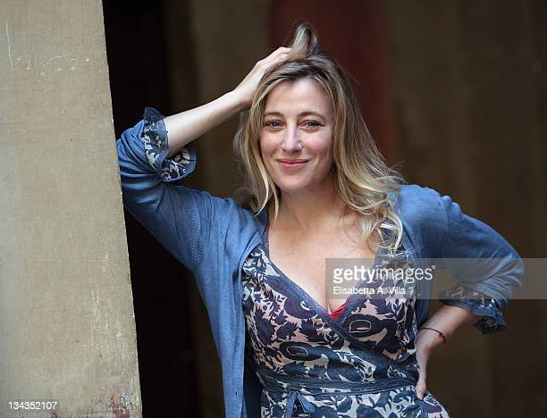 Actress Valeria Bruni Tedeschi attends 'Les mains en l'air' photocall on May 30 2011 in Rome Italy