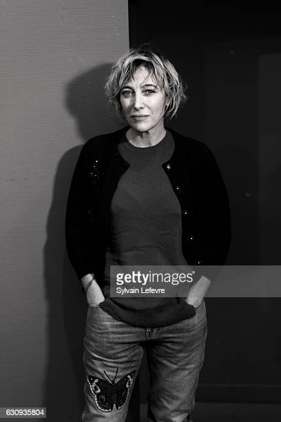 Actress Valeria Bruni Tedeschi is photographed for Self Assignment on December 13 2016 in Les Arcs France