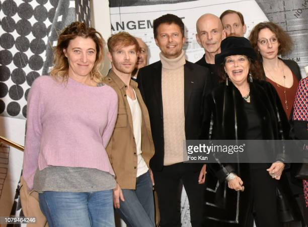 Actress Valeria BruniTedeschi Alexandre Styker writer Julien Cendres actress Claudia Cardinale and writer Marie Espargiliere attend Accident...