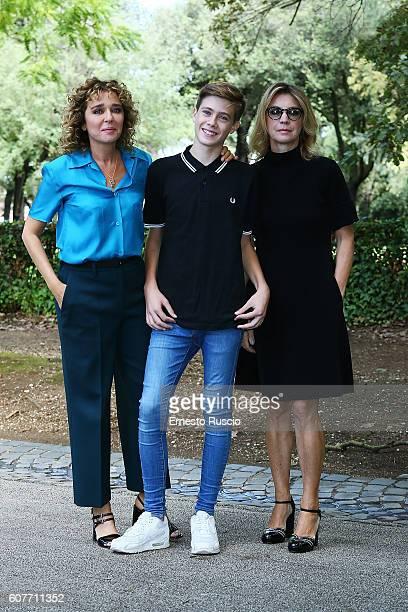 Actress Valeria Golino Andrea Pittorino and actress Margherita Buy attend a photocall for 'La Vita Possibile' at La Casa Del Cinema on September 19...