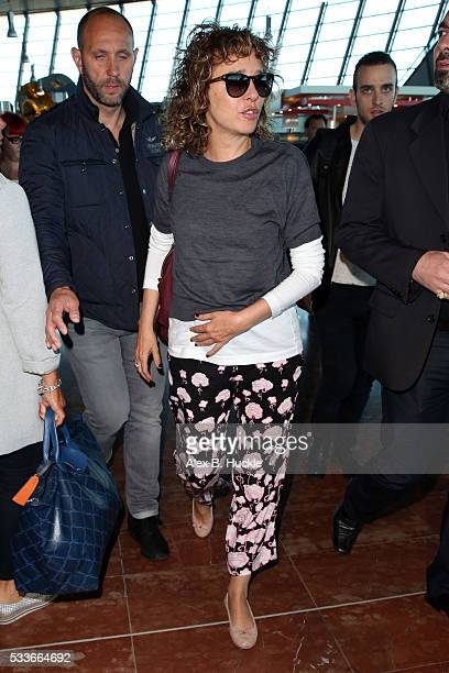 Actress Valeria Golino arrives at Nice airport following the 69th Annual Cannes Film Festival on May 23, 2016 in Nice, France.