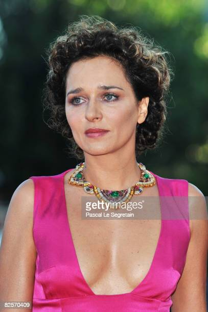 Actress Valeria Golino arrives at the opening ceremony and 'Burn After Reading' Premiere during the 65th Venice Film Festival at Sala Grande on...