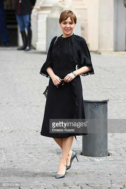 Actress Valeria Golino attends the 60 David Di Donatello nominees presentation at Palazzo del Quirinale on April 18 2016 in Rome Italy