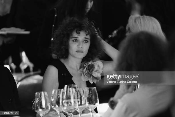 Actress Valeria Golino attends Women In Motion Kering And Cannes Film Festival Official Dinner Photocall during the 70th Cannes Film Festival on May...