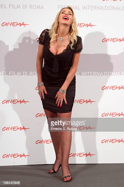 Actress Valeria Marini attends the I Want To Be A Soldier photocall during the 5th International Rome Film Festival at Auditorium Parco Della Musica...