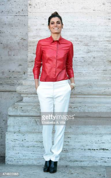 Actress Valeria Solarino attends 'Una Donna per Amica' photocall at Moderno Cinama on February 24 2014 in Rome Italy