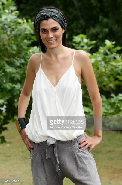 Actress Valeria Solarino poses for a portrait session during Giffoni Experience 2010 on July 30 2010 in Giffoni Valle Piana Italy