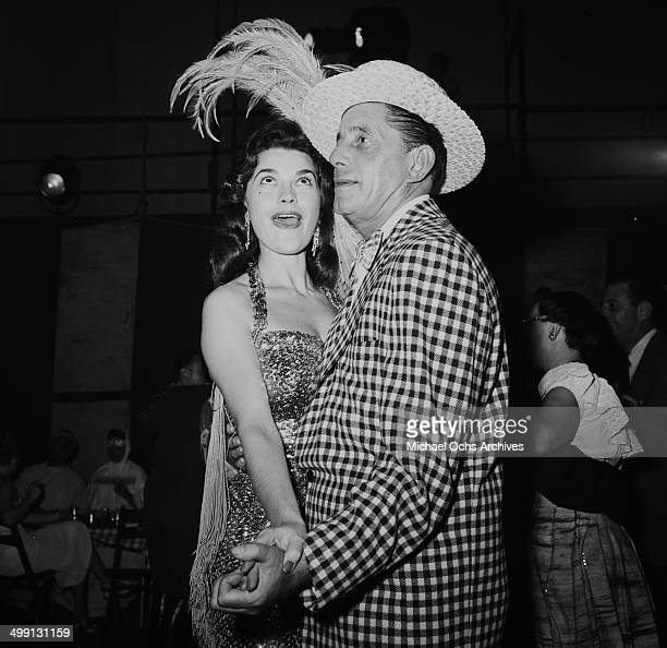 Actress Valerie Allen dances at a Halloween party in Los Angeles California