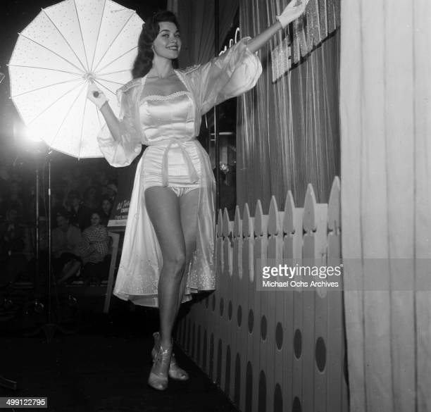 Actress Valerie Allen poses as she attends the premiere of The Rainmaker in Los Angeles California