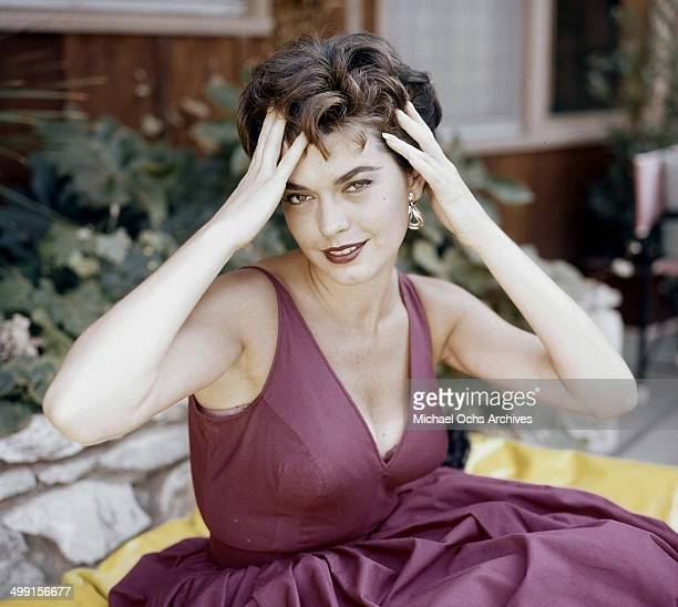 Actress Valerie Allen poses at home in Los Angeles California