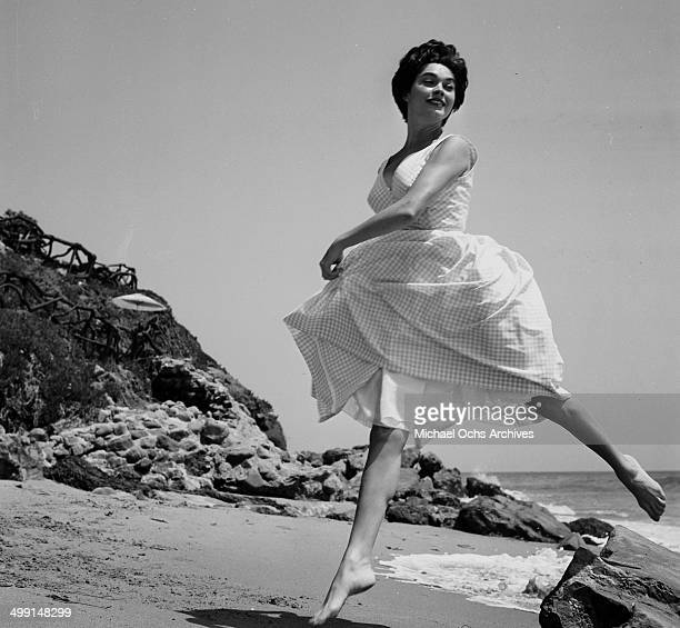 Actress Valerie Allen poses at the beach in Los Angeles California