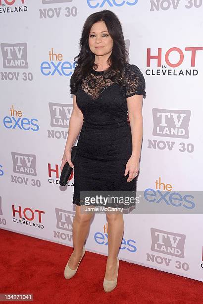 """Actress Valerie Bertinelli attends the TV Land holiday premiere party for """"Hot in Cleveland"""" & """"The Exes"""" at SD26 on November 29, 2011 in New York..."""