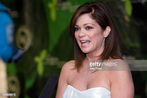 Actress Valerie Bertinelli is interviewed by local TV as she arrives for the 2009 Mint Jubilee Derby Eve Gala at the Galt House Hotel Suites on May 1...