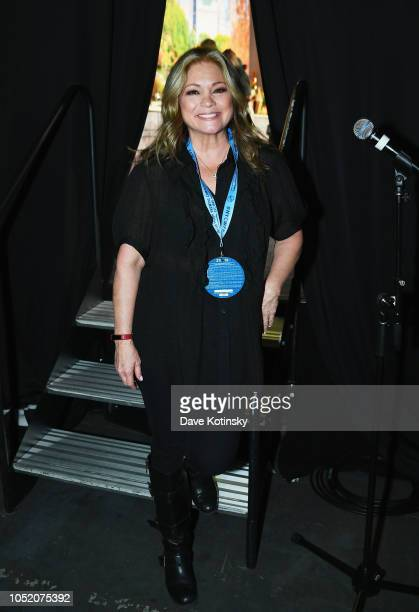 Actress Valerie Bertinelli poses backstage during Food Network Cooking Channel New York City Wine Food Festival Presented by Capital One Grand...
