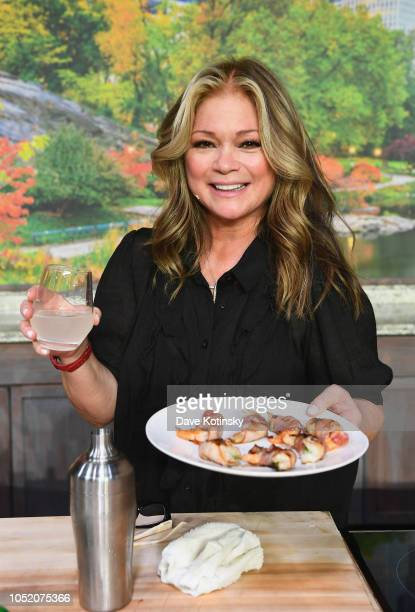 Actress Valerie Bertinelli poses onstage during Food Network Cooking Channel New York City Wine Food Festival Presented by Capital One Grand Tasting...