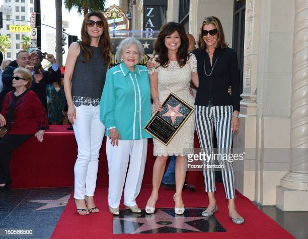 Actress Valerie Bertinelli who was honored with the 2476th Star on the Hollywood Walk of Fame in the Category of Television with her 'Hot in...