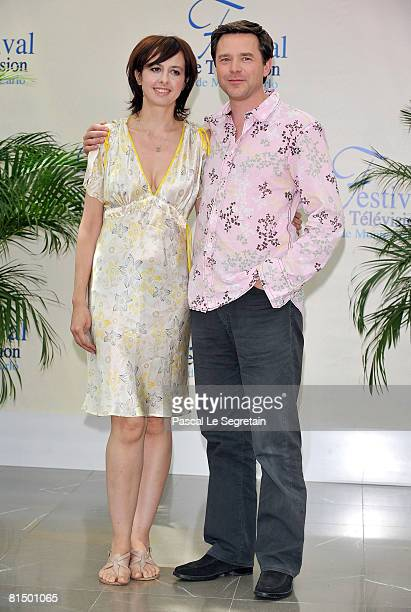 Actress Valerie Bonneton and actor Guillaume De Tonquedec attend a photocall promoting the television series 'Fais pas ci Fais pas ca' on the second...