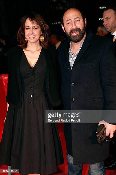 Actress Valerie Bonneton and Actor Kad Merad attend 'Des gens qui s'embrassent' movie premiere at Cinema Gaumont Marignan on April 1 2013 in Paris...