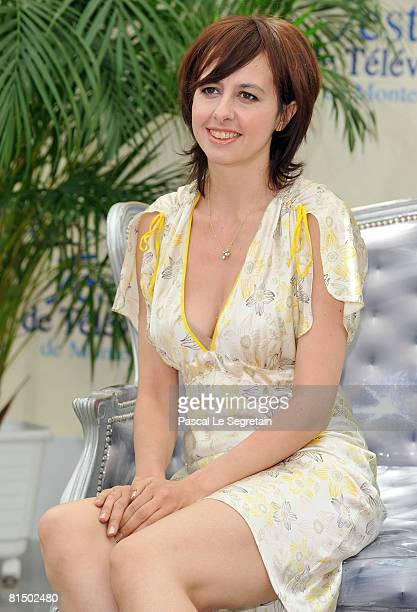 Actress Valerie Bonneton attends a photocall promoting the television series 'Fais pas ci Fais pas ca' on the second day of the 2008 Monte Carlo...