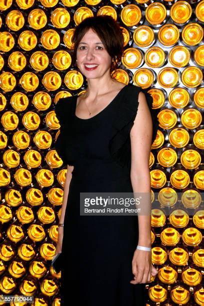 Actress Valerie Bonneton attends the 'Diner Surrealiste' to celebrate the 241th birthday of 'Maison Louis Roederer' on October 4 2017 in Reims France