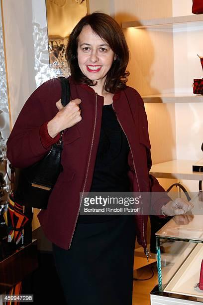 Actress Valerie Bonneton attends the Longchamp Elysees 'Lights On Party' Boutique Launch on December 4 2014 in Paris France
