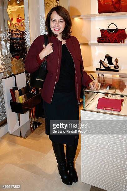 Actress Valerie Bonneton attends the Longchamp Elysees 'Lights On Party' Boutique Launch on December 4 2014 in Paris France