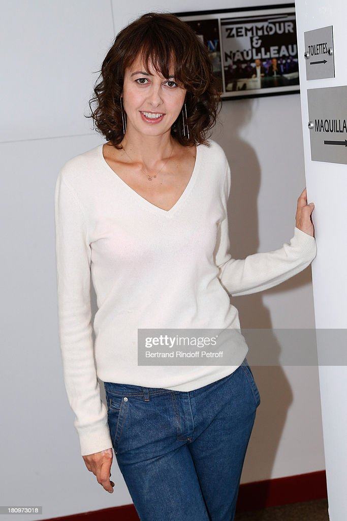 Actress Valerie Bonneton attends 'Vivement Dimanche' French TV Show at Pavillon Gabriel on September 18, 2013 in Paris, France.