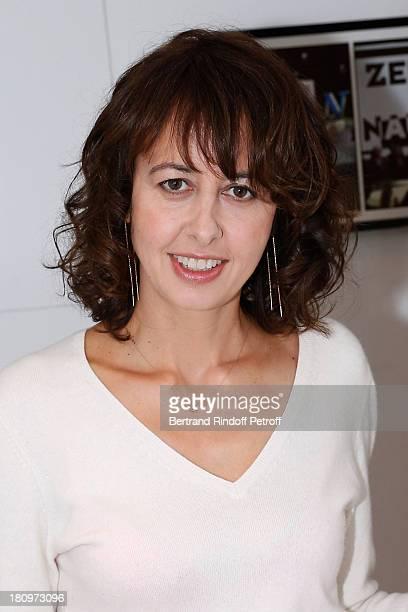 Actress Valerie Bonneton attends 'Vivement Dimanche' French TV Show at Pavillon Gabriel on September 18 2013 in Paris France