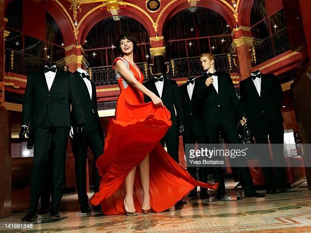 Actress Valerie Bonneton is photographed for Paris Match on March 6 2012 in Paris France