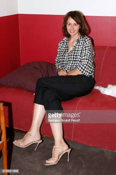 Actress Valerie Bonneton of the Piece 'Huit euros de l'heure' wich will be played from January 11 2018 poses during the Presentation of Production...