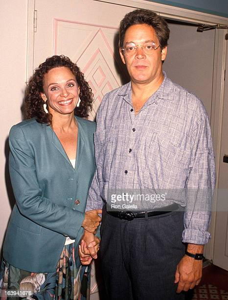 Actress Valerie Harper and actor Raul Julia attend the Press Conference to Announce the Children's Candlelight Vigils on August 2 1990 at the...