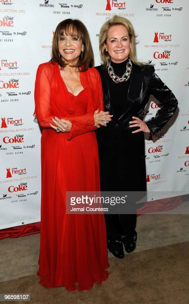 Actress Valerie Harper and designer Pamela Roland backstage at the Heart Truth Fall 2010 Fashion Show during MercedesBenz Fashion Week at The Tent at...