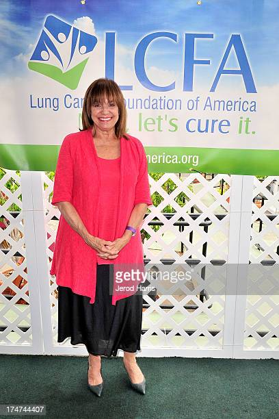 Actress Valerie Harper attends the Lung Cancer Foundation of America's 'Day At The Races' at Del Mar Race Track on July 28 2013 in Del Mar California