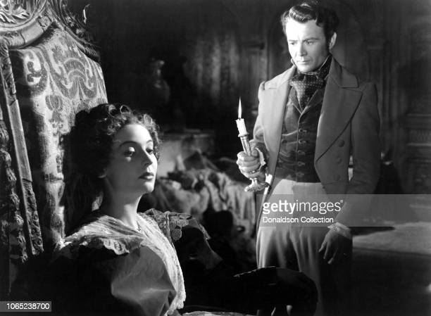 Actress Valerie Hobson and John Mills in a scene from the movie Great Expectations