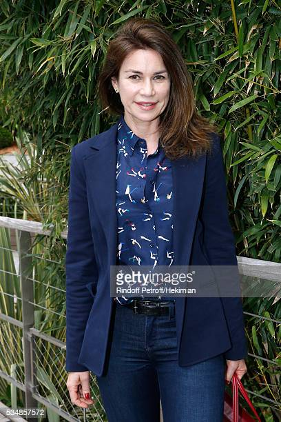 Actress Valerie Kaprisky attends Day Seven of the 2016 French Tennis Open at Roland Garros on May 28 2016 in Paris France
