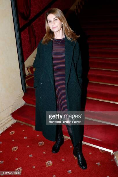Actress Valerie Kaprisky attends the Michele Bernier One Woman Show Vive Demain at Theatre des Varietes on January 28 2019 in Paris France